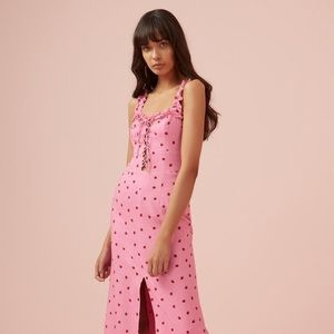 Finders Keepers Lola strawberry midi dress